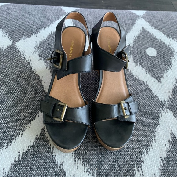 Mossimo Supply Co. Shoes - Black Wedges